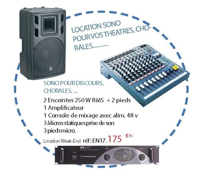 Location de packs de sonorisation pour vos théâtres, chorales, etc.