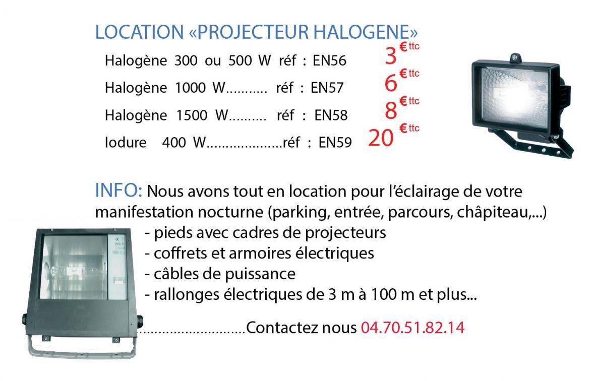Location d'halogène et iodure