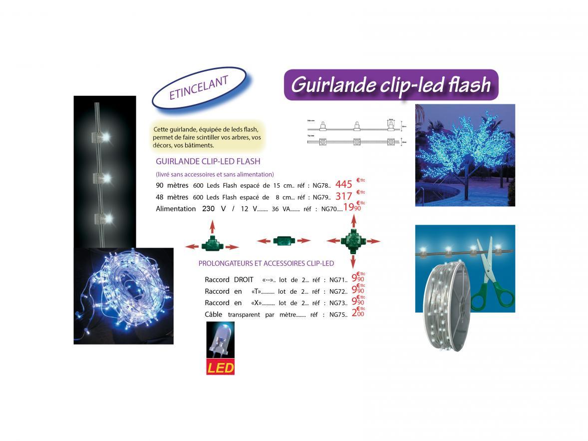 Guirlande clip-led flash