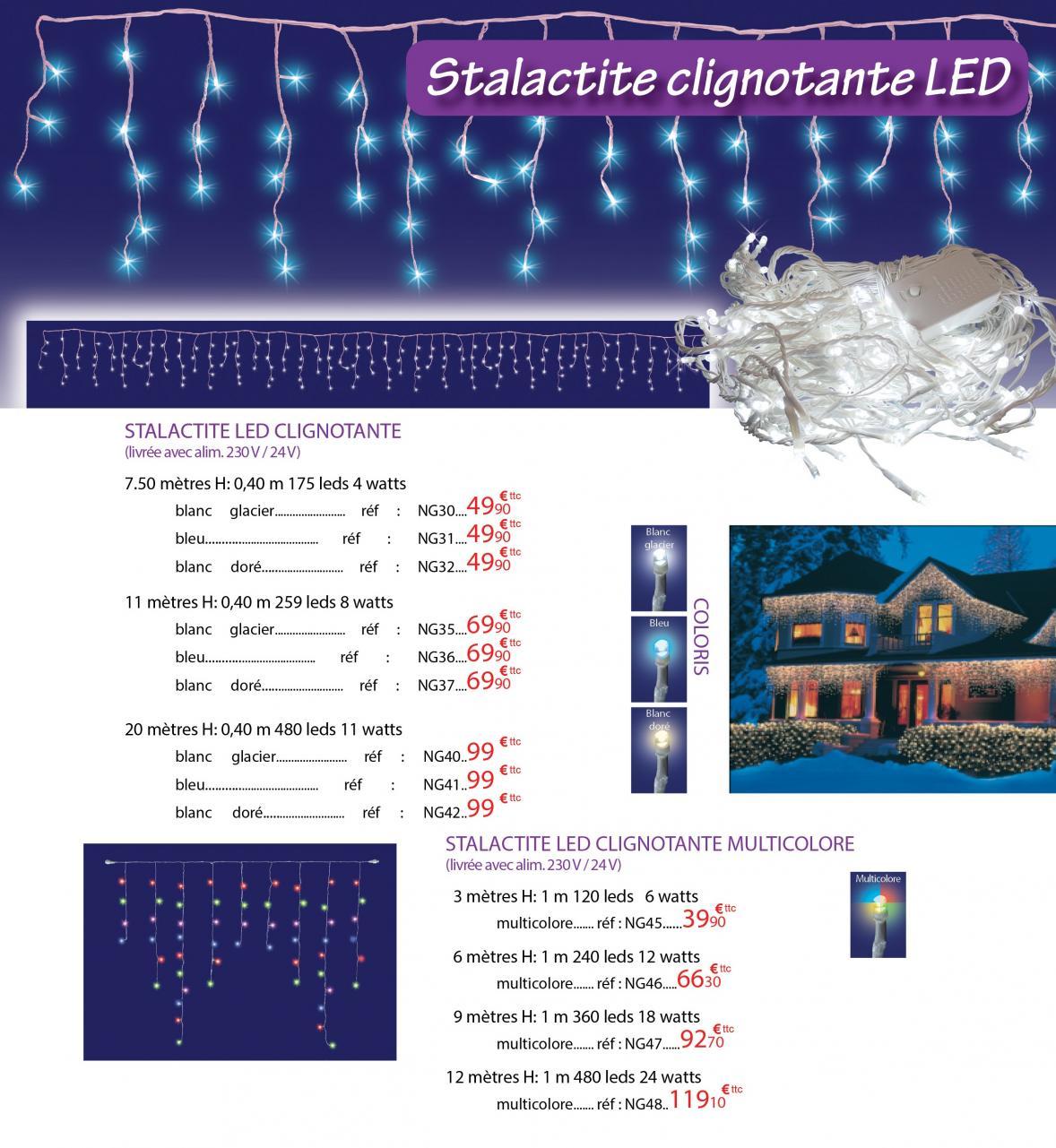 Stalactites clignotantes LED